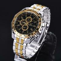 Fashion Stainless Steel Luxury Sport Analog Quartz Clock Men's Wrist zac 02