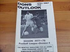 Wimbledon--Dons Outlook 1977 September edition.