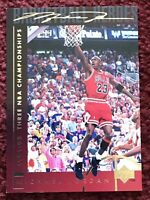 "MICHAEL JORDAN 1994-95 UD Basketball Heroes #43 ""1991-93 3 NBA Championships"" 🥇"