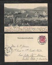 1904 KARLSBAD GARTENZEILE WESTEND UDB UNDIVIDED BACK GERMANY POSTCARD