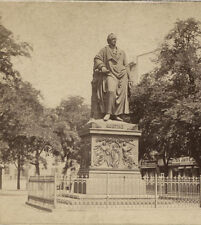 STEREOVIEW STATUE OF JOHANN WOLFGANG VON GOETHE. GERMAN WRITER.