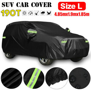 190T SUV Car Cover Waterproof Sun UV Snow Dust Rain Resistant Protection L Size