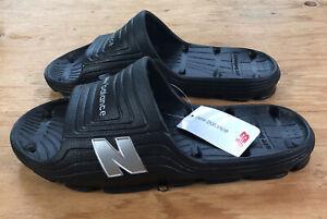 New Balance Mens Float Slides Wide Size 12 US Slip On Sandals Black - New