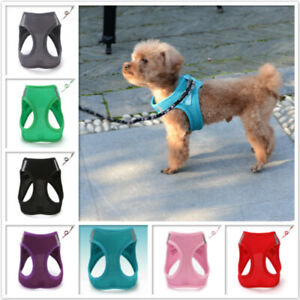 Dog Harness Lead Coat Puppy Mesh Breathable Vest Pull Strong Adjustable XXS-XL