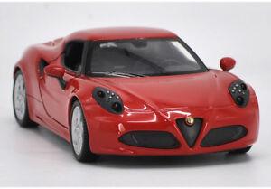 Welly 1:24 Alfa Romeo 4C Diecast Model Racing Car New in Box