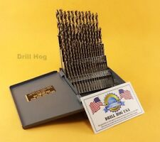 Drill Hog USA 60 Pc NUMBER Drill Bit Set Wire Gauge COBALT M42 Lifetime Warranty