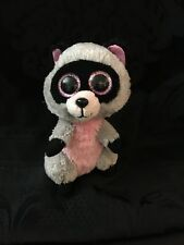 """TY BEANIE BOOS - ROCCO the 6"""" RACOON - NO HANG TAG plush stuffed toy"""