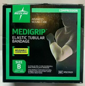"Medigrip Tubular Bandage Elastic Compression, Size B 2.5"" X 11 yards, MSC9501"