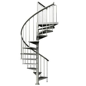 DOLLE Spindeltreppe Wendel Außen Balkon Treppe feuerverzinkt Ø 125 155 185 cm
