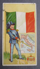 1940's Muth Bakery  Soldiers and Flags card italy