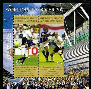 #9073 GRENADA GRENADINES SPORTS SOCCER FOOTBALL WORLD CUP 2002 S/S YV BL 547 MNH