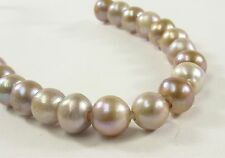 9-10 HalfStrand Large Hole Natural Mauve Pink Freshwater Pearls 2.0mm Hole(#467)
