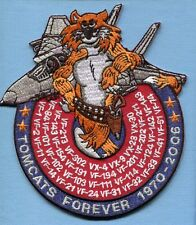 "GRUMMAN F-14 TOMCAT SQUADRON LIST FOREVER VF- US Navy Fighter Squadron 6"" Patch"
