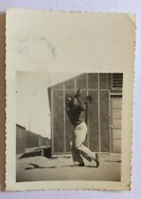 Vintage African American Boy Playing Baseball