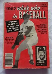 1987 72ND EDITION WHO'S WHO IN BASEBALLROGER CLEMENS MIKE SCHMIDT