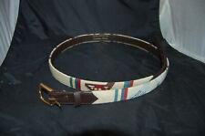 Vogue Accessories Rare Hand Stiched Needlepoint Golf Belt Sz XL 48