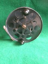 "VINTAGE FISHING ALLCOCKS 4 1/2"" PRESSED METAL CENTREPIN REEL WITH OPTIONAL CHECK"