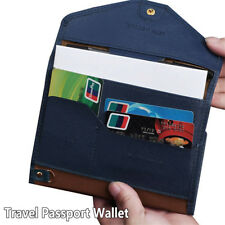 PU Leather Travel Passport Wallet Document Organiser Ticket Holder Card Holder