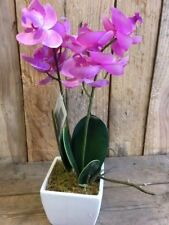 33 cm Potted Artificial Pink Orchid Decorative Plant Flowers