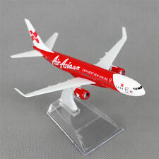 16cm Boeing 737 Air Asia.com Airlines Aircraft Plane Diecast Model 1/400 Toy
