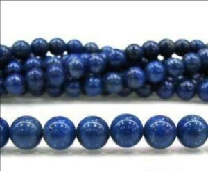 "Wholesale 5 Strands 8mm Blue Lazuli Lapis Gemstone Loose Bead 15"""