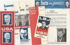 Lot of 1964 LBJ Presidential Campaign Pamphlets & Ephemera - Johnson & Humphrey