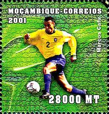Mosambik postfrisch MNH Sport Fußball Cafu Brasilien Serie A Italien Mailand