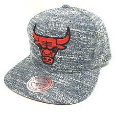 Mitchell & Ness NBA Chicago Bulls Grey Noise Snapback Adjustable Hat - NWT