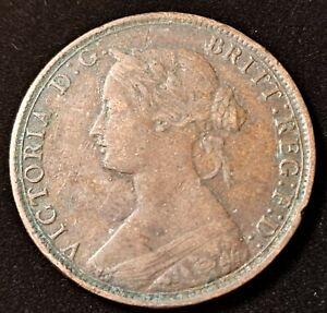 1862 Great Britain Half Penny Queen Victoria Old Coin