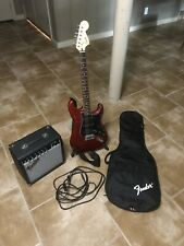 Fender Stratocaster Squier Electric Guitar, And Fender Frontman 15g Sterio