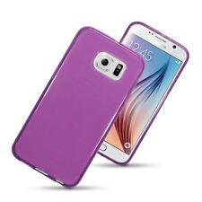 Slim équipée en caoutchouc TPU gel peau Coque pour Samsung Galaxy S6-Violet
