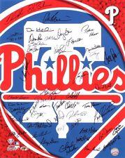 PHILADELPHIA PHILLIES SIGNED 16x20 BEDROSIAN HERR VIRGIL BOONE DAVIS REED HAYES+