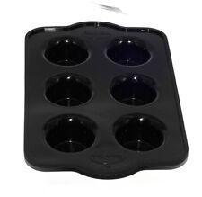 Molde De Silicona Mini Muffin Cupcake Molde Antiadherente Horno Para Pan Bandeja Negro