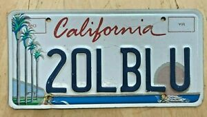 "COLORFUL CALIFORNIA  ARTS GRAPHIC VANITY  LICENSE PLATE "" 2 OL BLU "" CA OLD BLUE"