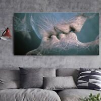 Love Kiss Abstract Canvas Print Wall Mural Art Painting Picture Home Decor