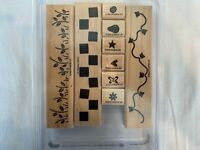 Stampin Up! 2002 Two-Step Stampin Border Builders Set of 9 Scrapbooking  Crafts