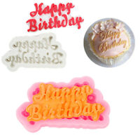 3D HAPPY BIRTHDAY LETTER SILICONE FONDANT CAKE DECOR MOLD CHOCOLATE BAKING MOULD