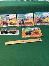 5 Die Cast Metal & Plastic Tractor Toys Nice