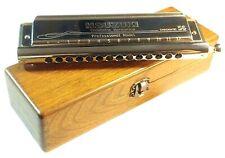 $200 OFF Suzuki Slider SC 56 Chromatic Harmonica Round Mouthpiece + Wooden Case