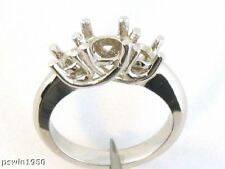 Three Stone Ring Mounting 14K White Gold For 2.25Ct T.W
