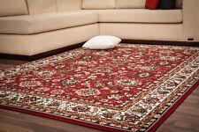 Klassische Teppiche Floral Flachflor Designer NEU SALE Rot Creme 80x250