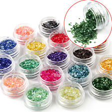 18 Colors Crushed Shell Chips Powder For Acrylic System Nail Art Tips Decoration