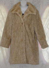 Faux Fur 50's 60's Style Coat Boho Peacoat Rockabilly Retro Sophisticated 13/14