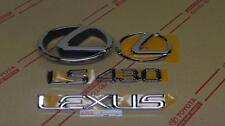 01-03 Oem Nuevo Lexus LS430 Cromo Completo Emblema Kit 430 2001 2002 2003