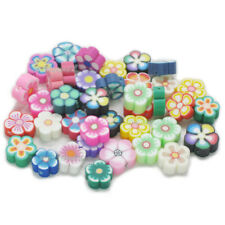 100 pcs Mixed fimo Polymer Clay Flower Spacer Beads 8mm random send Craft Bags