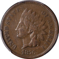 1876 Indian Cent PCGS VF30 Great Eye Appeal Nice Strike