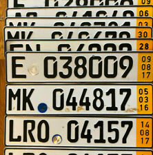 Single Temporary German License Plate