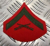 Genuine U.S.M.C Marine Corps Lance Corporal Shoulder Chevron Patch (E-3)  ERN26