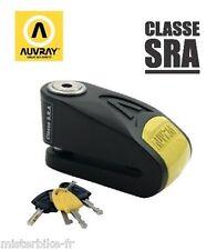 Antivol Bloque disque + Alarme AUVRAY B-LOCK 14 SRA Moto Scooter Homologué 120db