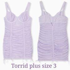 Torrid plus size 3X (22/24) Lingerie underwire Runched body Purple nighty